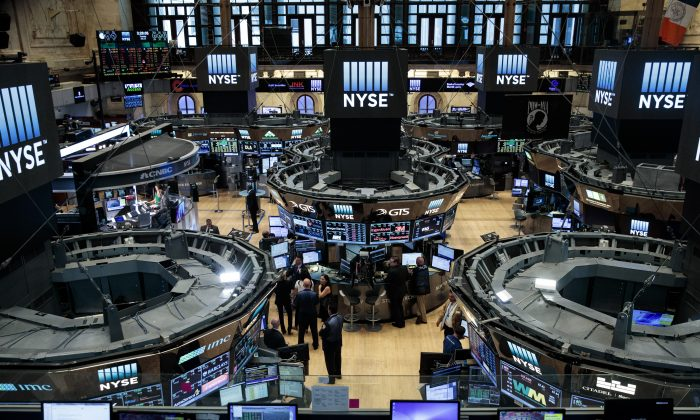 Traders work on the floor of the New York Stock Exchange on July 12, 2016 in New York City. (Drew Angerer/Getty Images)