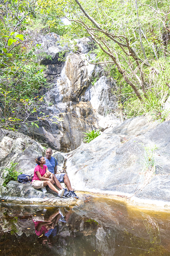 Park goers enjoy the scenery inside Virgin Islands National Park. (Courtesy of Virgin Islands Department of Tourism)