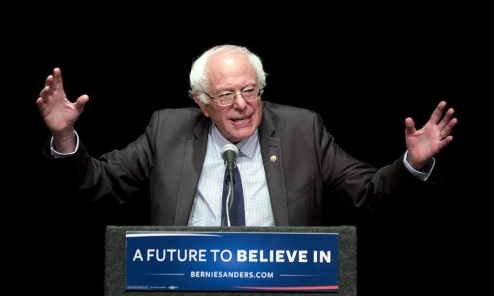 Sen. Bernie Sanders (I-Vt.) speaks in Albany, N.Y., on June 24, 2016. (AP Photo/Mike Groll)