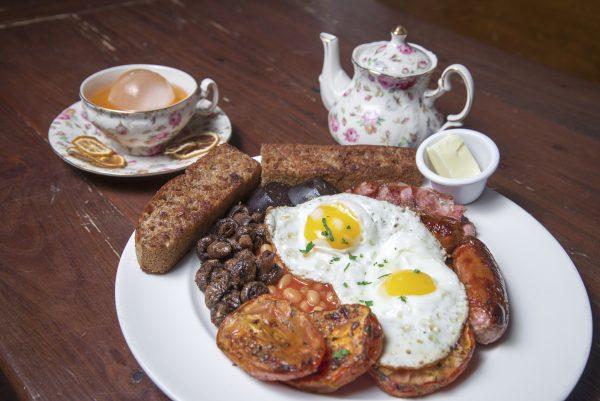 A hearty Irish Breakfast including bacon, bangers, and black pudding. (Blaze Nowara)
