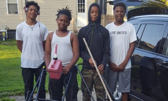 Four Teens' Free Lawn Service Lifts Louisville Community