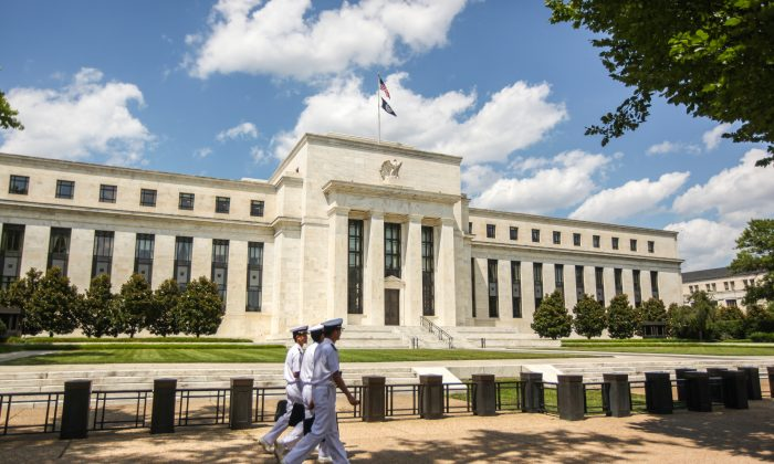 The Marriner S. Eccles Federal Reserve Board Building in Washington on July 14, 2016. (Benjamin Chasteen/Epoch Times)