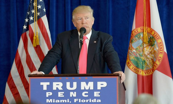 Republican presidential candidate Donald Trump at Trump National Doral on July 27, 2016 in Doral, Florida. (Gustavo Caballero/Getty Images)