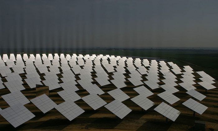 A file photo of a solar farm in Seville, Spain. (Denis Doyle/Getty Images)