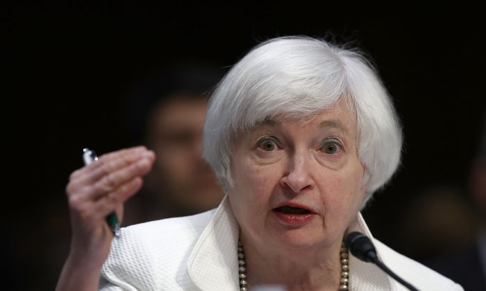 U.S. Federal Reserve chair Janet Yellen in Washington, D.C., June 21, 2016. The Fed decided to skip raising rates at its September meeting.  (Win McNamee/Getty Images)