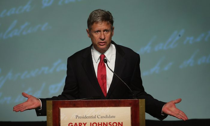 Libertarian Party presidential candidate Gary Johnson. (Scott Olson/Getty Images)