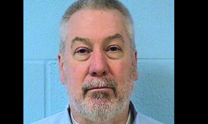 This undated file photo provided by the Illinois Department of Corrections shows former Bolingbrook, Ill., police officer Drew Peterson. Peterson is set to appear in a southwestern Illinois courtroom Friday, July 29, 2016 for sentencing, after he was convicted in a May murder-for-hire trial. Jurors agreed that Peterson attempted to hire an inmate's uncle to kill Will County State's Attorney James Glasgow. (Illinois Department of Corrections via AP, File)