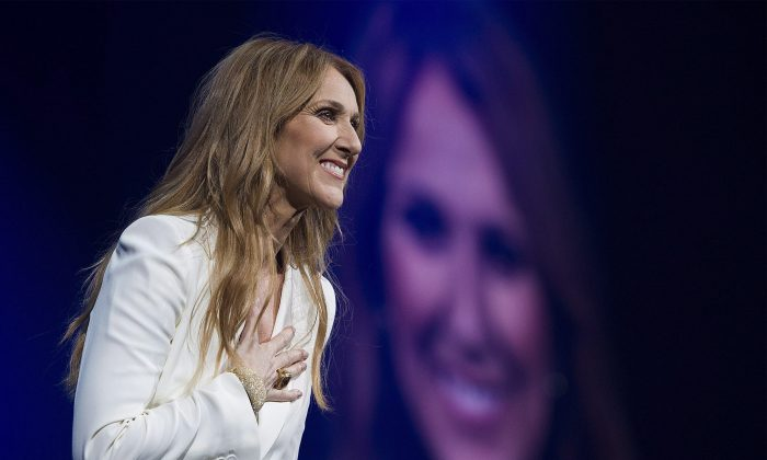 Celine Dion performs in concert at the Bell Centre in Montreal, Sunday, July 31, 2016. THE CANADIAN PRESS/Graham Hughes