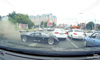 Video: Rare Ultima GTR Supercar Spotted Swerving into Traffic in Russia