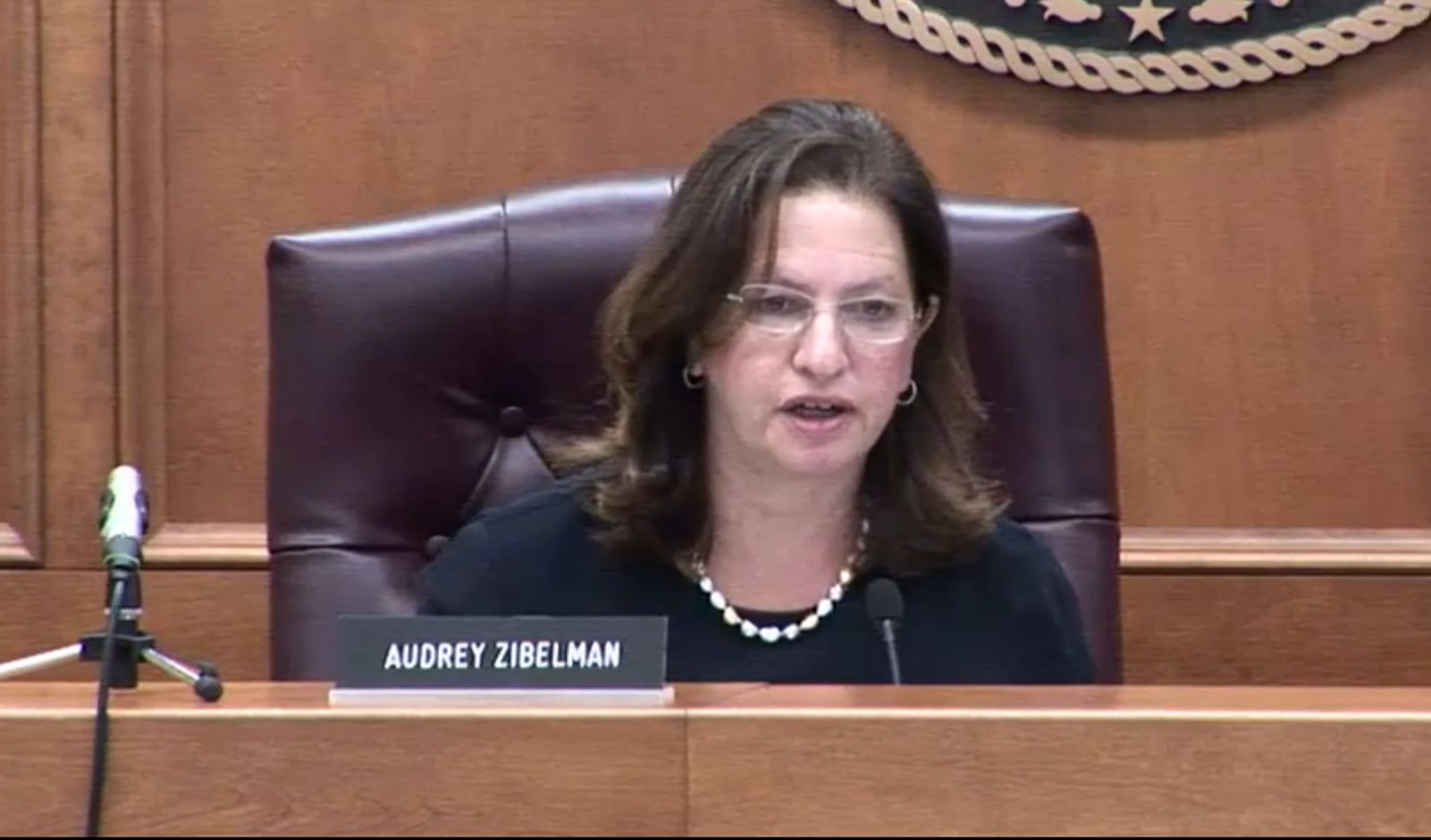 New York Public Service Commissioner Audrey Zibelman at a hearing to approve Governor Andrew Cuomo's clean energy plan on Aug. 1, 2016. (Screenshot/Livestream on DPS.NY.gov)