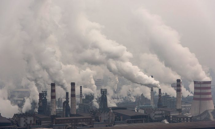 A general view of Qian'an steelworks of Shougang Corporation in Tangshan on Jan. 20, 2016. (Xiaolu Chu/Getty Images)