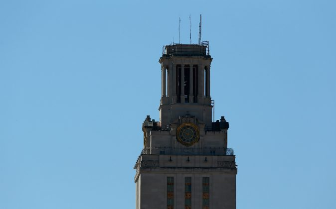 General view of the University of Texas Tower on the University of Texas campus. A new law implemented on Aug.1 allows some Texas students to carry guns on campus (Photo by Ronald Martinez/Getty Images)