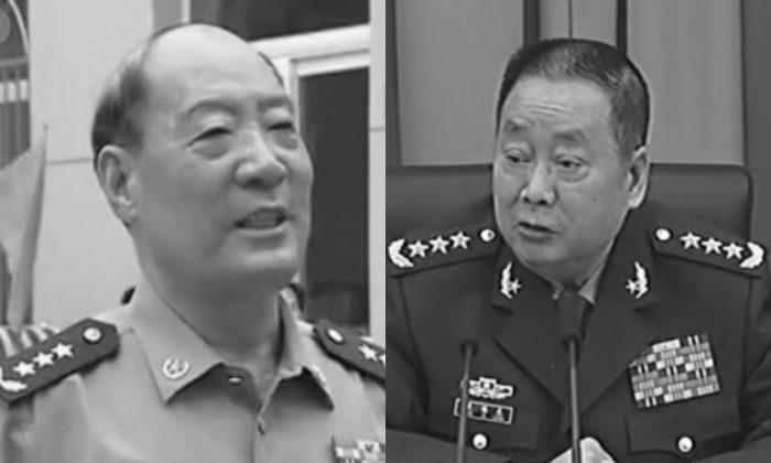(L-R) Retired generals Li Jinai and Liao Xilong. (CCTV)