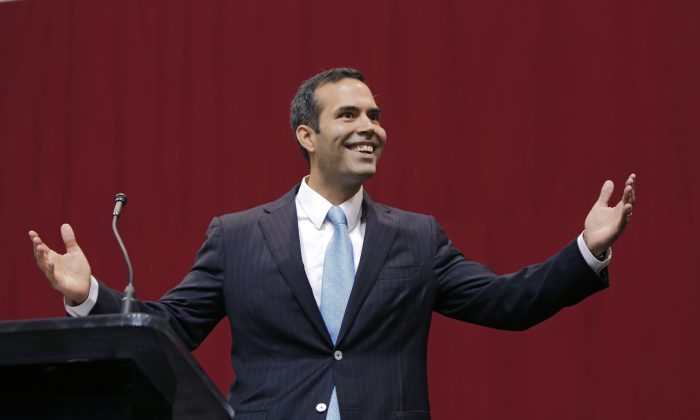 Texas Land Commissioner-elect George P. Bush on November 4, 2014 in Austin, Texas. Republicans won the majority of the US Senate for the first time in 8 years after Americans went to the polls and voted in the mid-term elections. (Erich Schlegel/Getty Images)
