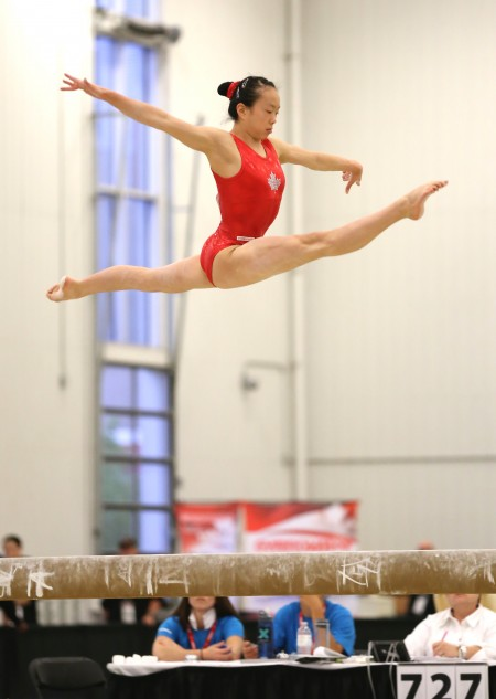 Aleeza Yu on Balance Beam. (Courtesy of Aleeza Yu)