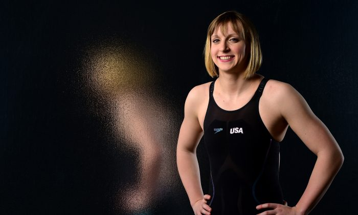 Swimmer Katie Ledecky poses for a portrait at the USOC Rio Olympics Shoot at Quixote Studios in Los Angeles, Calif., on Nov. 21, 2015. (Harry How/Getty Images)