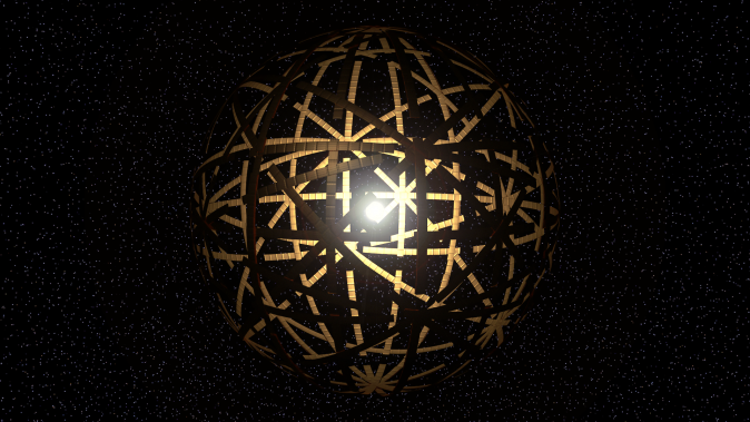 A computer model of an alien megastructure around a star. (Kevin Gill/CC BY 2.0)