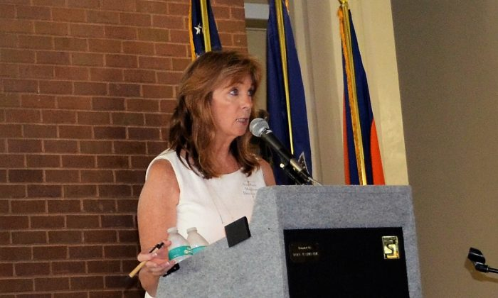 Ann Marie Maglione, director, Orange County Office for the Aging, speaks at the Senior Forum in Middletown on Aug. 12, 2016. (Yvonne Marcotte/Epoch Times)