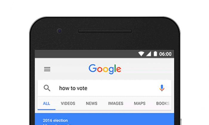 Image shown on a mobile device a summary box detailing state voting laws at the top of the search results whenever a request indicates a user is looking for the information. Google begins the how to vote feature in Google Search on Tuesday, Aug. 16, 2016, pulling another lever on its influential search engine in an effort to boost voter turnout in November's U.S. presidential election. (Google via AP)