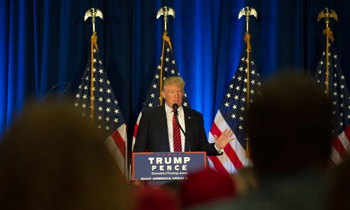Republican candidate for President Donald Trump holds a campaign event at the Kilcawley Center at Youngstown State University on August 15, 2016 in Youngstown, Ohio. (Jeff Swensen/Getty Images)