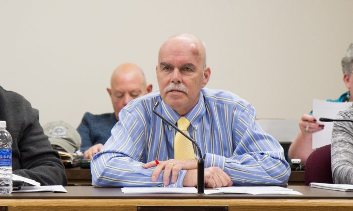 Former Port Jervis Councilman Robert Ritchie during a Common Council meeting in Port Jervis on Apr. 11, 2016. (Holly Kellum/Epoch Times)