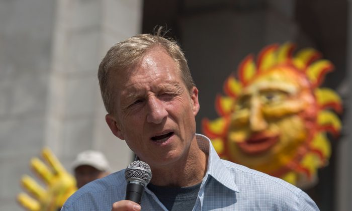 Billionaire Tom Steyer in Los Angeles, Calif., on May 14, 2016. (David McNew/AFP/Getty Images)
