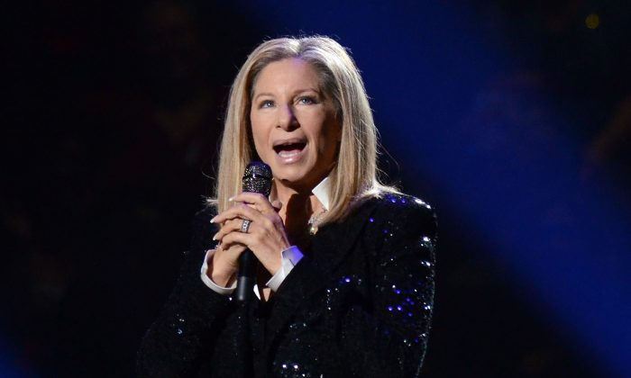 Singer Barbra Streisand performs at the Barclays Center in the Brooklyn borough of New York on Oct. 11, 2012. (Evan Agostini/Invision/AP)