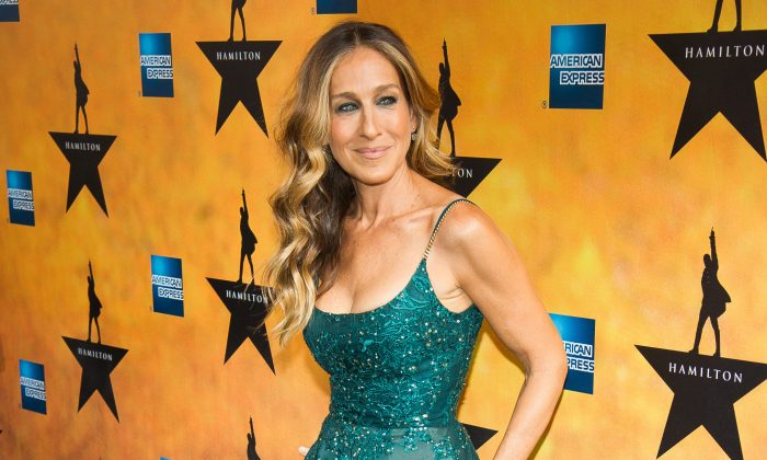 "In this Aug. 6, 2015 file photo, Sarah Jessica Parker attends the Broadway opening night of ""Hamilton"" in New York.  (Photo by Charles Sykes/Invision/AP, File)"
