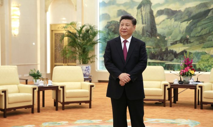 Chinese Communist Party leader Xi Jinping at the Great Hall of the People in Beijing on July 25, 2016.  (How Hwee Young/AFP/Getty Images)