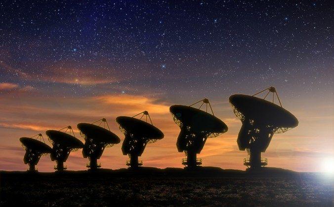 A file photo of radio telescopes. (Sdecoret/Shutterstock)
