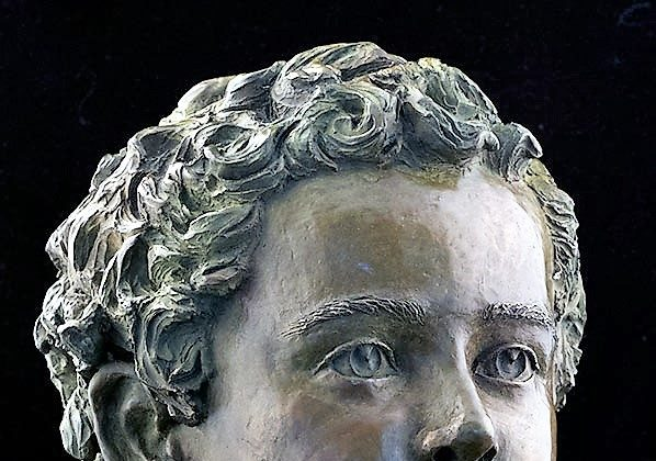 Bronze bust titled Oisin by sculptor Christina Biaggi. (courtesy of the artist)
