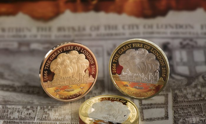 Marking the Great Fire of London: A circulating version of the £2 coin is expected to be released to the public soon. (© Royal Mint)
