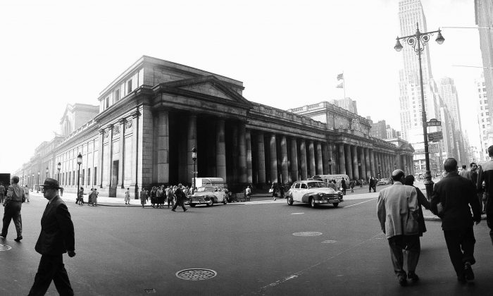 ** FILE ** The old Penn Station in New York is shown in this June 3, 1955 wide-angle file photo. I(AP Photo/John Lent, File)