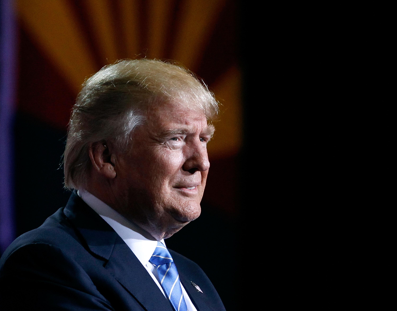 Trump Stresses Enforcement in Immigration Speech