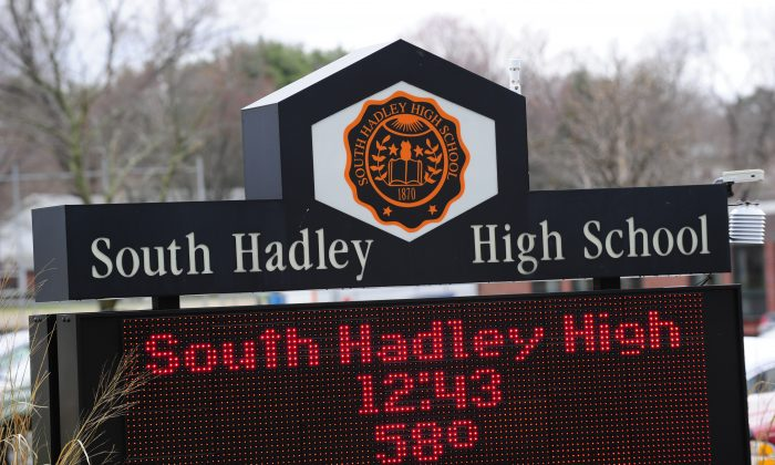 A view of South Hadley High School where prosecutors have charged nine students with bullying an Irish immigrant girl who later committed suicide, in South Hadley, Mass., on March 31, 2010. (Emmanuel Dunand/AFP/Getty Images)