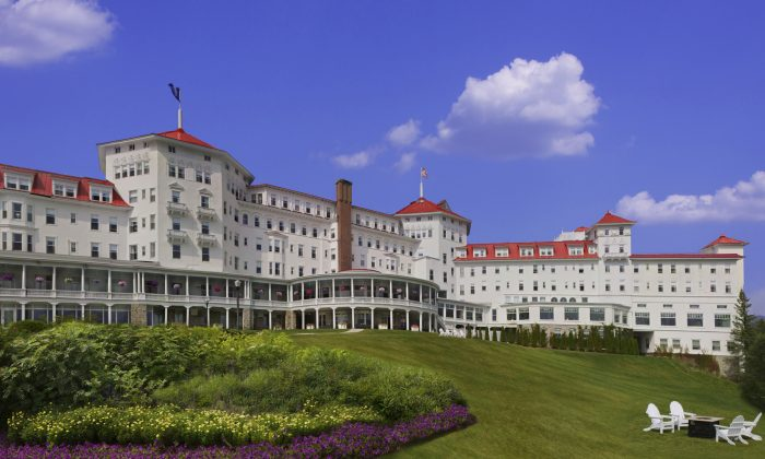 The Mount Washington Hotel and Resort in the White Mountains of New Hampshire, built in the late 1800s by a local tycoon. (Courtesy of Omni Mount Washington Resort)