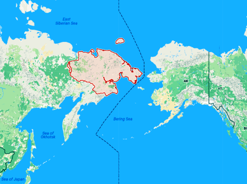 Russia To Deploy A Division Of Troops Miles From Alaska The - Alaska map russia