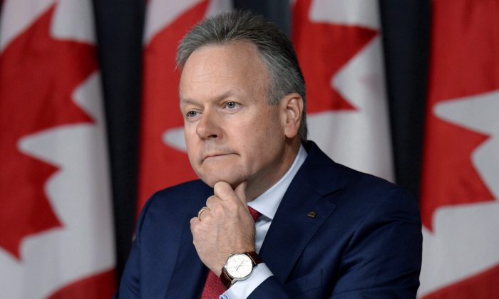 Governor of the Bank of Canada Stephen Poloz takes questions at a press conference following the release of the interest rate announcement and Monetary Policy Report on July 13, 2016 in Ottawa. The Bank of Canada left its key interest rate at 0.50 percent on Sept. 7, 2016. (The Canadian Press/Justin Tang)