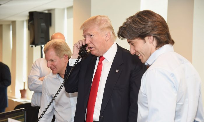Donald Trump attends Annual Charity Day hosted by Cantor Fitzgerald, BGC and GFI at BGC Partners, INC on September 12, 2016 in New York City.  (Gary Gershoff/Getty Images for Cantor Fitzgerald)