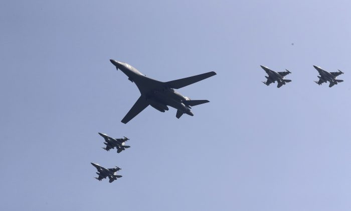 USA  bombers conduct military drills over Korean peninsula