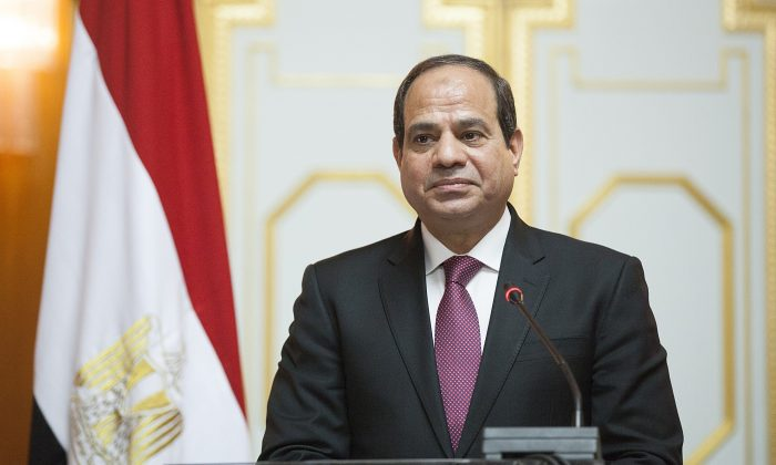 Abdel Fattah el-Sisi, President of Egypt, gives a press conference in Addis Ababa on March 24, 2015. Egyptian President is visiting Ethiopia for the next two days. (ZACHARIAS ABUBEKER/AFP/Getty Images)