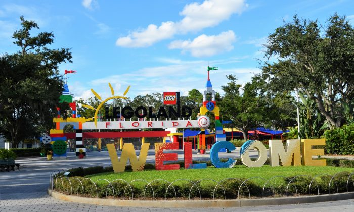 The entrance to Legoland Florida in Winter Haven, Fl. on Sept. 29, 2016. (Yvonne Marcotte/Epoch Times)
