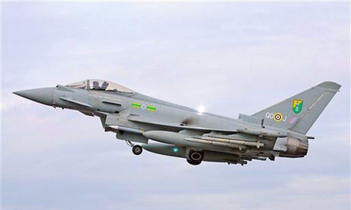 Undated photo of an RAF Typhoon aircraft (AP Photo/ MOD via PA)