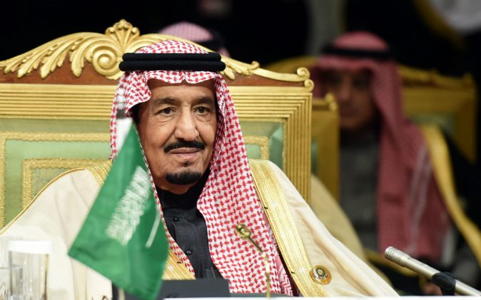 Saudi King Salman bin Abdulaziz attends the second day of the 136th Gulf Cooperation Council (GCC) summit held in Riyadh, on December 10, 2015. Princess Hassa has claimed diplomatic immunity after allegedly ordering her bodyguard to kill a decorator in Paris on Sept. 26. (FAYEZ NURELDINE/AFP/Getty Images)