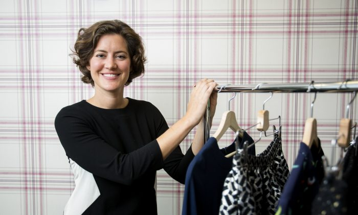 Founder and CEO of Kit, Merin Guthrie talks about her women's clothing company during her short trip to New York on Sept. 14, 2016 (Samira Bouaou/Epoch Times)
