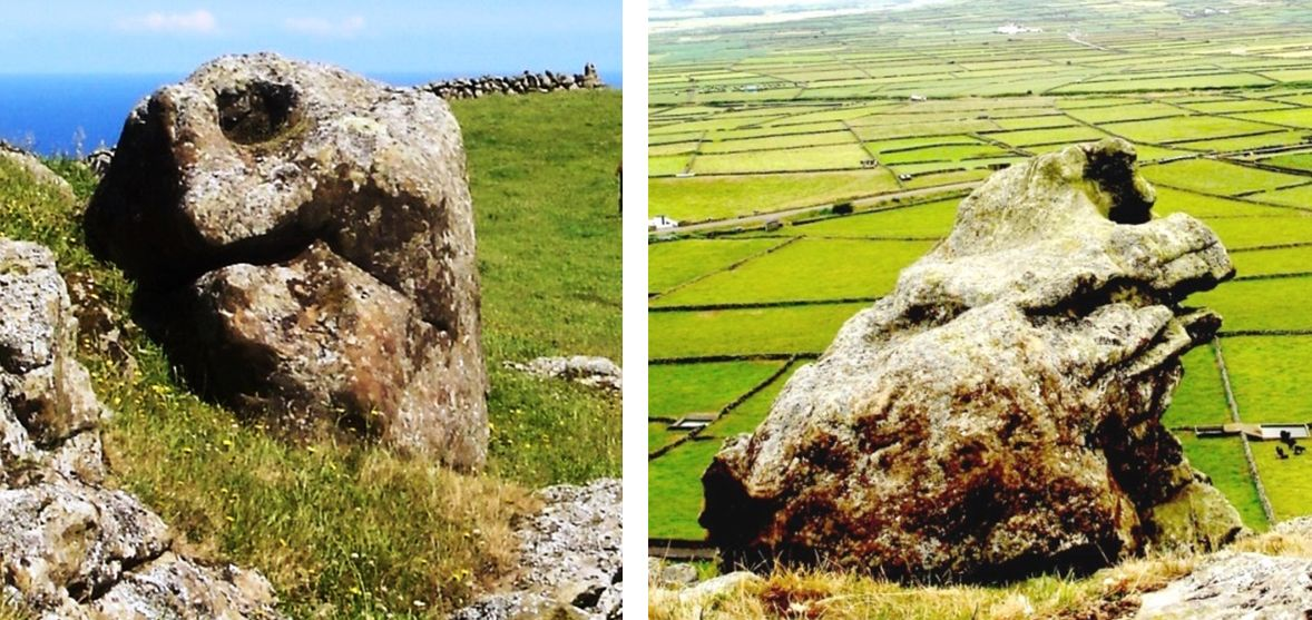 Rock formations that look like animals on the Azores islands. (Courtesy of Antonieta Costa)
