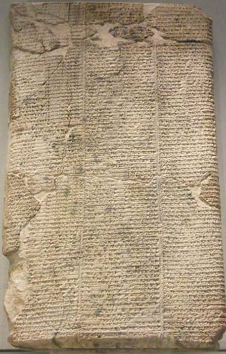 The Lament for Ur, an example of Sumerian literature dating back to about 2000 B.C. (Public Domain)