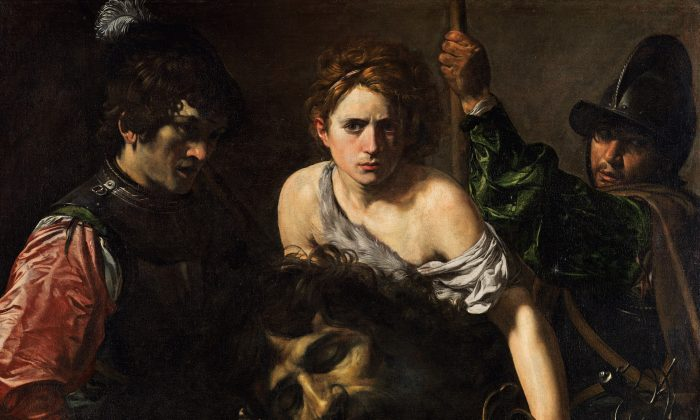 """""""David with the Head of Goliath,"""" circa 1615–16 by Valentin de Boulogne (French, Coulommiers-en-Brie 1591–1632 Rome) Museo Thyssen-Bornemisza, Madrid (The Metropolitan Museum of Art)"""