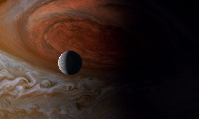 Jupiter and Europa, one of his moons, in Terrence Malick's documentary 'Voyage of Time: Life's Journey' (Wild Bunch)