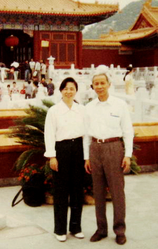 Luo Muluan and Zhang Mengye in China. (Courtesy of Luo Muluan)